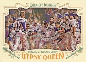 2016 Topps Gypsy Queen Baseball Walk-Off Winners