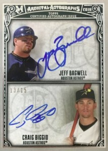 2016 Topps Museum Collection Baseball Dual Archival Autographs