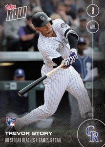 2016 Topps Now Baseball Trevor Story RC #9
