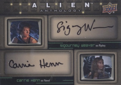 2016 Upper Deck Alien Anthology Dual Autograph Sigourney Weaver