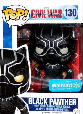 Funko Pop Captain America Civil War 130 Black Panther Onyx Glitter Walmart
