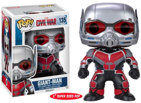 Funko Pop Captain America Civil War 135 Giant-Man 6 inch Super Sized Pop