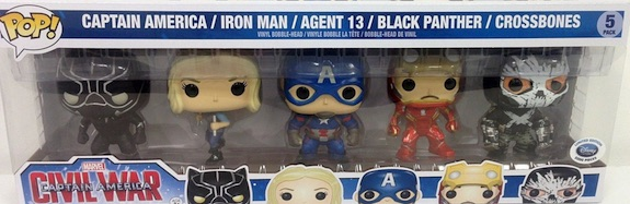 Funko Pop Captain America Civil War 5 Pack Disney Store Europe Exclusive