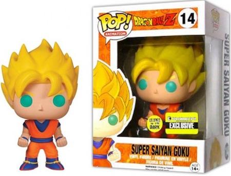 Funko Pop Dragon Ball Z Vinyl Figures 14 Glow in the Dark Super Saiyan Goku Entertainment Earth