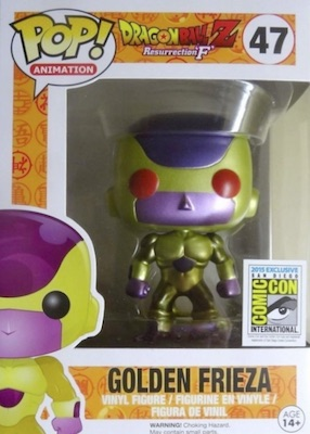 Funko Pop Dragon Ball Z Vinyl Figures 47 Golden Frieza Red Eyes 2015 SDCC