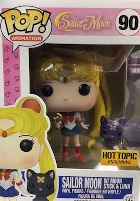 Funko Pop Sailor Moon Vinyl Figures 90 Sailor Moon Stick Luna Hot Topic exclusive