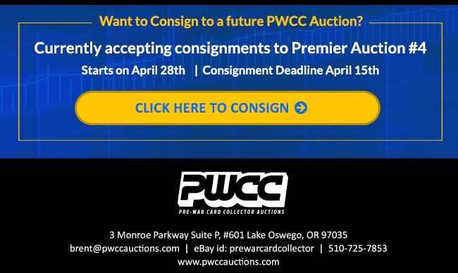 1948 Leaf Williams PSA 9, 53 Topps Mantle PSA 8, 52 Topps Mays PSA 8 and more, Highlight PWCC Premier Auction #3 2