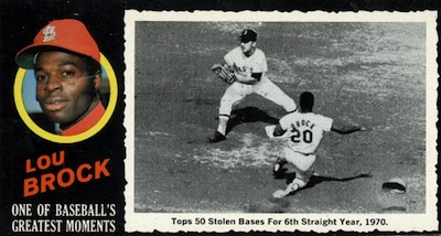 1971 Topps Greatest Moments Lou Brock #27