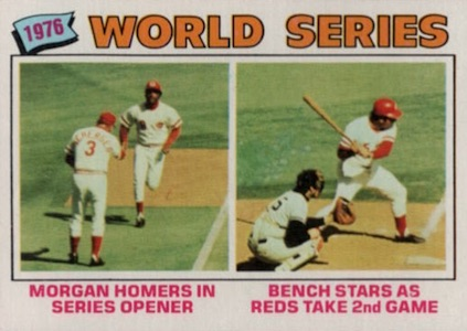 1977 Topps Joe Morgan, Johnny Bench #411