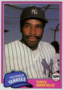 1981 Topps Traded Dave Winfield #855-2