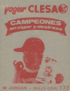 1985-86 Merchante Campeonato Baloncesto Liga Michael Jordan #173 red back