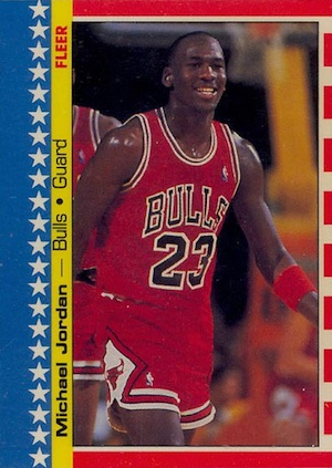 1987-88 Fleer Sticker Inserts Michael Jordan #2