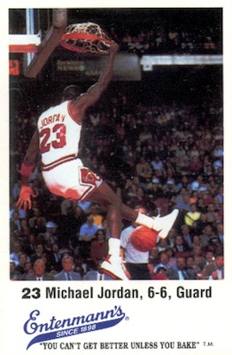 1987 Entenmann's Chicago Bulls Michael Jordan