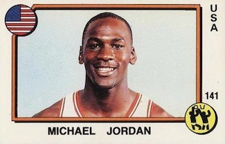 1987 Panini Supersport Michael Jordan #141 Italian