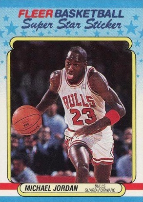 1988-89 Fleer Super Star Sticker Michael Jordan Insert