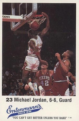 1988 Entenmann's Chicago Bulls Michael Jordan