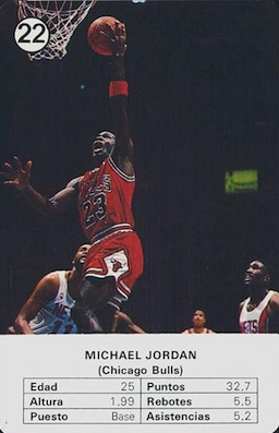 1988 Fournier NBA Estrellas Card Michael Jordan #22