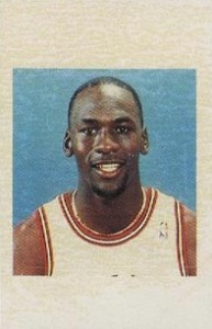 1988 Fournier NBA Estrellas Sticker Michael Jordan