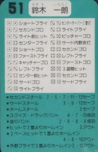 1993 Takara BlueWave Ichiro Suzuki #51 back
