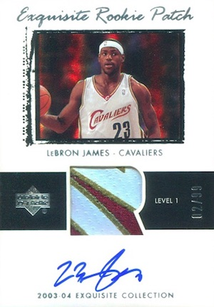 9c1e794f1393 Top LeBron James Rookie Cards of All-Time 10