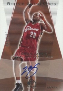 2003-04 SP Authentic Autograph LeBron James rookie cards