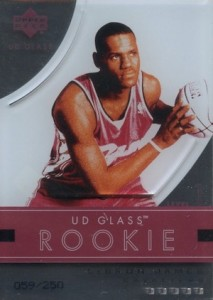 2003-04 UD Glass LeBron James rookie cards