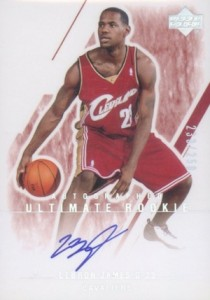 2003-04 Ultimate Collection LeBron James Rookie cards Autograph