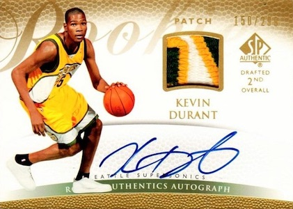 Top 15 Kevin Durant Rookie Cards 16