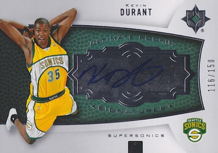 Top 15 Kevin Durant Rookie Cards 15