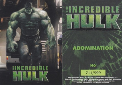 Hulk Trading Cards Guide and History 7