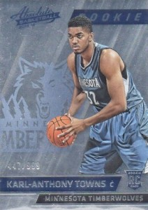 2015-16 Panini Absolute Memorabilia Karl-Anthony Towns RC #167