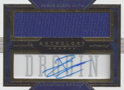 2015-16 Panini Anthology Hockey Clear Cloth Autograph