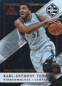 2015-16 Panini Limited Karl-Anthony Towns RC #169
