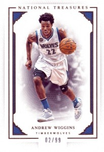 2015-16 Panini National Treasures Base Andrew Wiggins