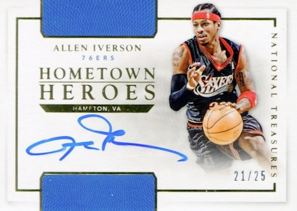 2015-16 Panini National Treasures Basketball Hometown Heroes Autographs Allen Iverson
