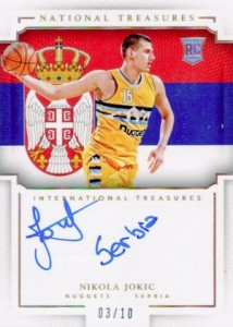 2015-16 Panini National Treasures Basketball International Treasures Autographs