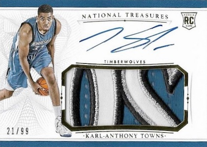 Karl-Anthony Towns Rookie Cards Checklist and Gallery 25