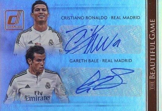 2015 Donruss The Beautiful Game Autograph Cristiano Ronaldo, Gareth Bale