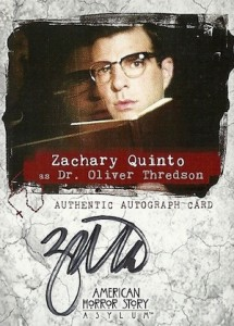 2016 Breygent American Horror Story Asylum Autographs Zachary Quinto as Dr. Oliver Thredson