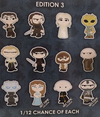 2016 Funko Game of Thrones Mystery Minis Series 3 - Odds & Hot Topic Exclusives 1
