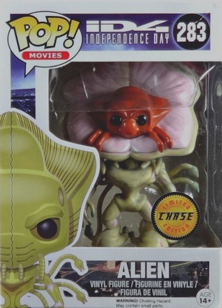2016 Funko Pop Independence Day 283 Alien Chase Variant