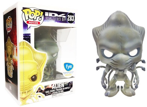 2016 Funko Pop Independence Day 283 Alien white eyes FYE