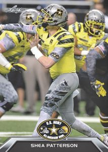 2016 Leaf Metal US Army All-American Bowl Football Base Shea Patterson