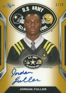 2016 Leaf Metal US Army All-American Bowl Football Tour Autographs Yellow Jordan Fuller