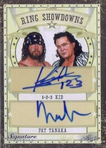2016 Leaf Signature Series Wrestling Ring Showdowns Dual Autographs