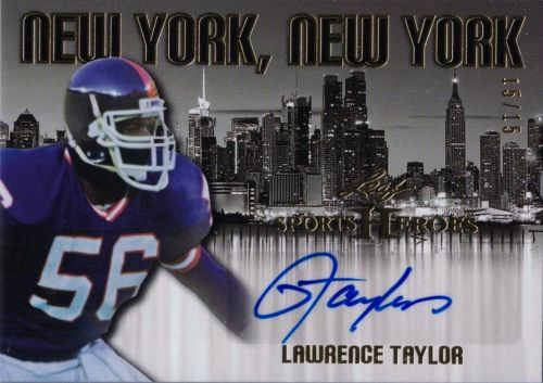2016 Leaf Sports Heroes New York, New York Lawrence Taylor