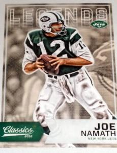2016 Panini Classics Football Variations Joe Namath