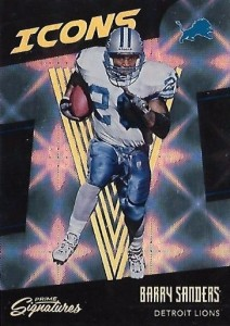 2016 Panini Prime Signatures Football Icons Barry Sanders