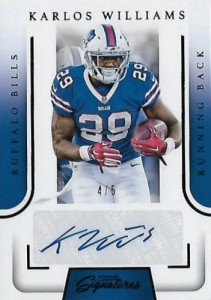 2016 Panini Prime Signatures Football Cards - Short Print Info Added 26