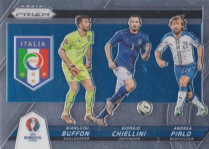 2016 Panini Prizm Euro Country Combinations Triples Italy